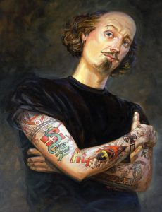 Tattooed Shakespeare, by Mathew McFarren.